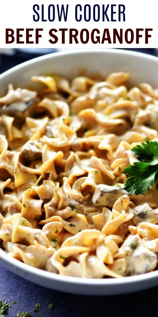 Slow Cooker Beef Stroganoff is a creamy, flavorful dish full of noodles and beef. Life-in-the-Lofthouse.com