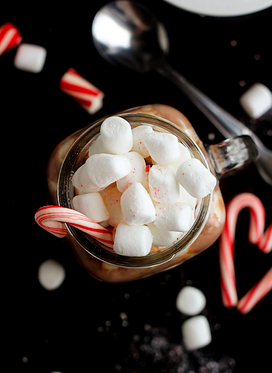 Peppermint Hot Chocolate is a warm, delicious hot chocolate made in a slow cooker and full of peppermint flavor. Life-in-the-Lofthouse.com