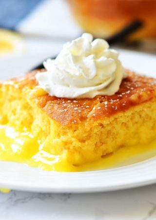 Warm Lemon Pudding Cake