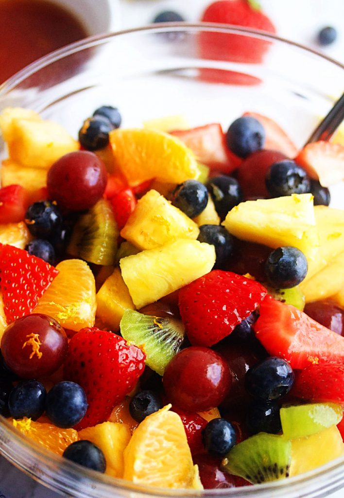 Summer Fruit Salad is a refreshing, colorful fruit salad with a slightly sweet and tangy dressing. Life-in-the-Lofthouse.com