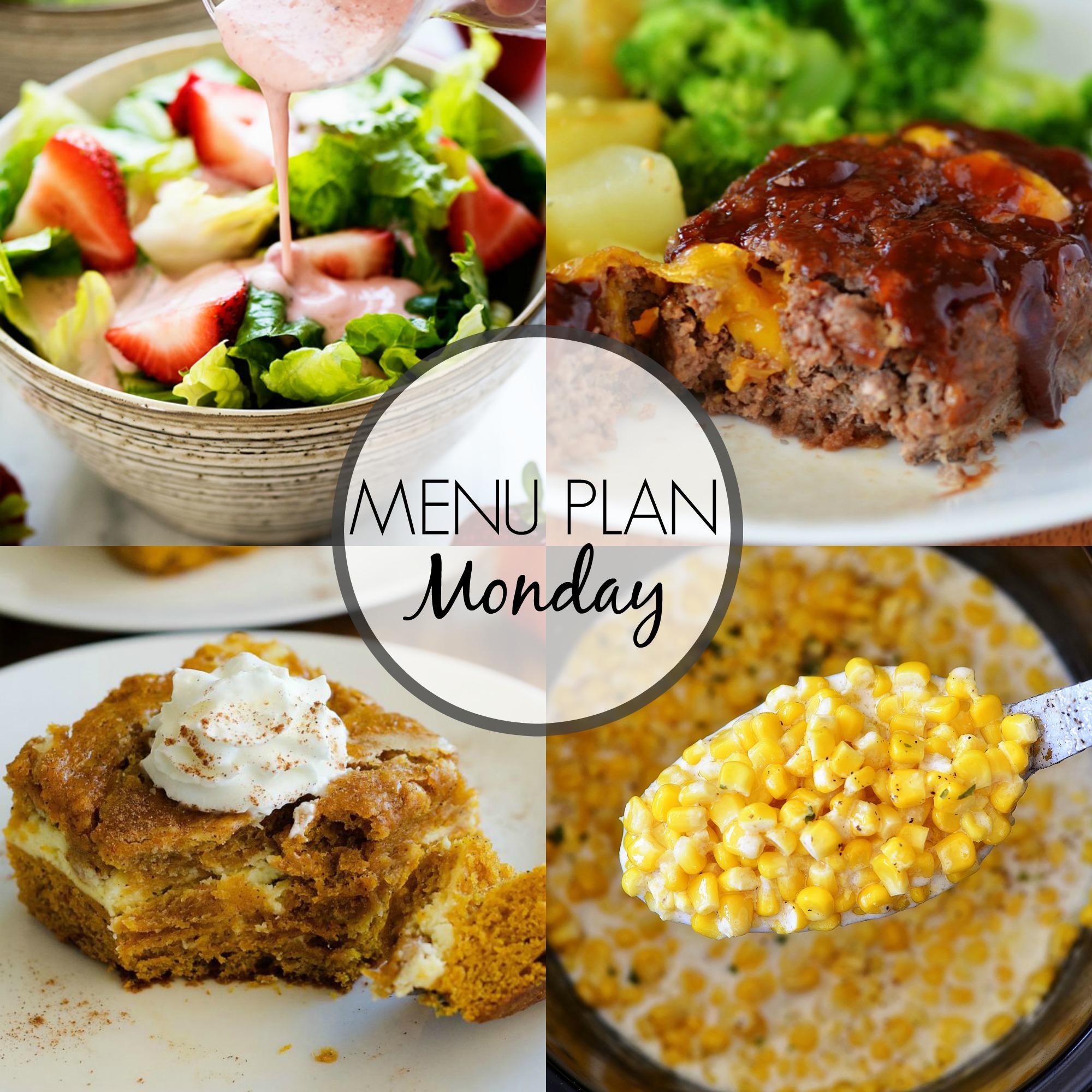 Menu Plan Monday 307