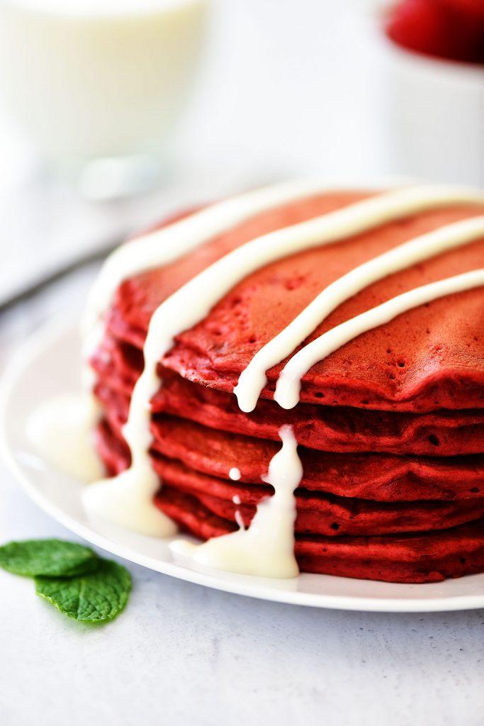 Easy Red Velvet Pancakes