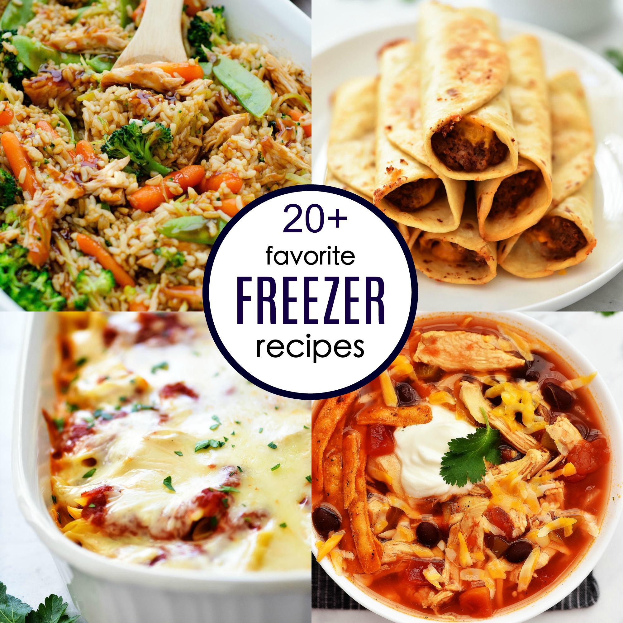 Twenty Freezer Meal Recipes