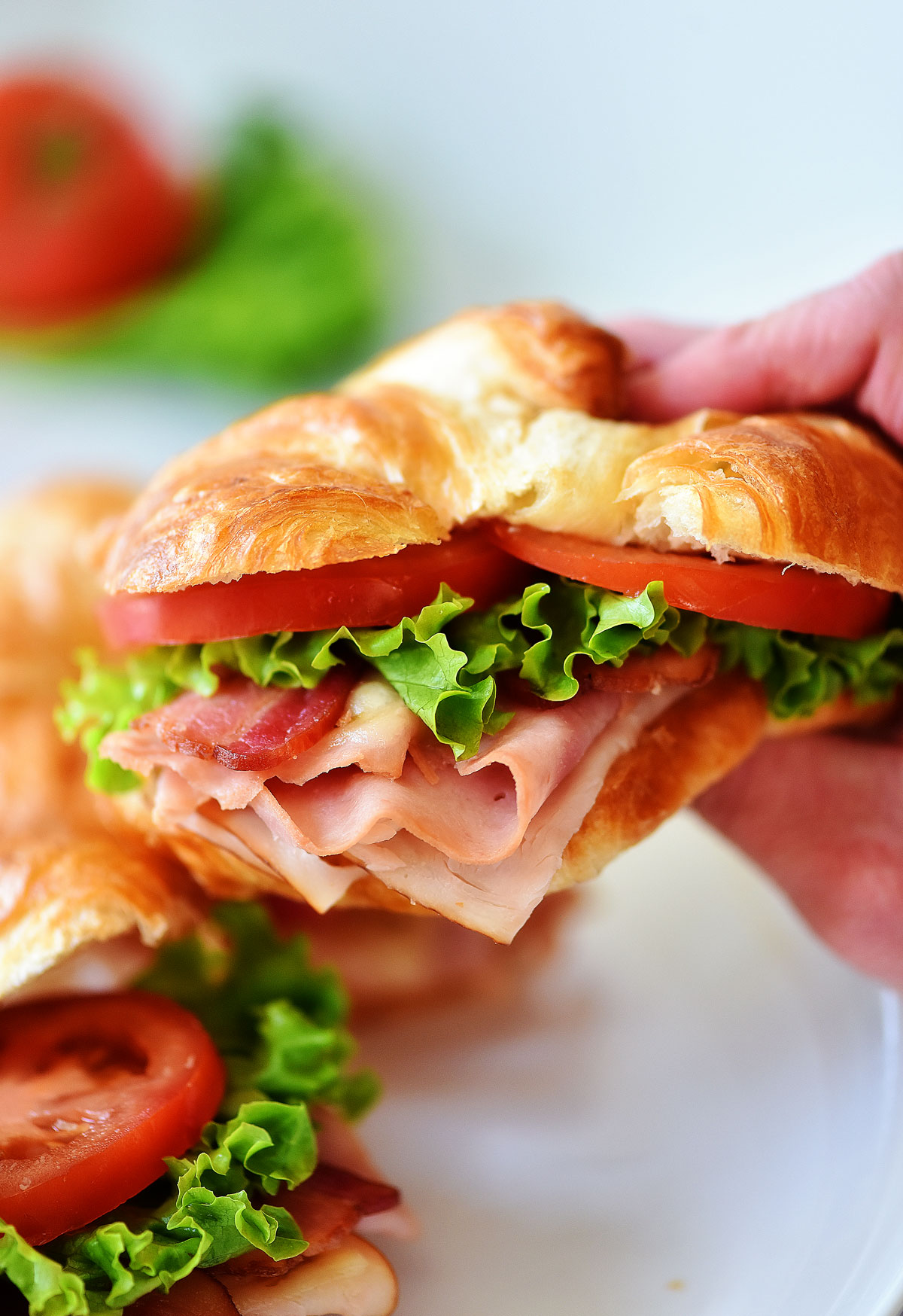 Club Croissant Sandwiches are croissants filled with ham, turkey and cheese. Life-in-the-Lofthouse.com