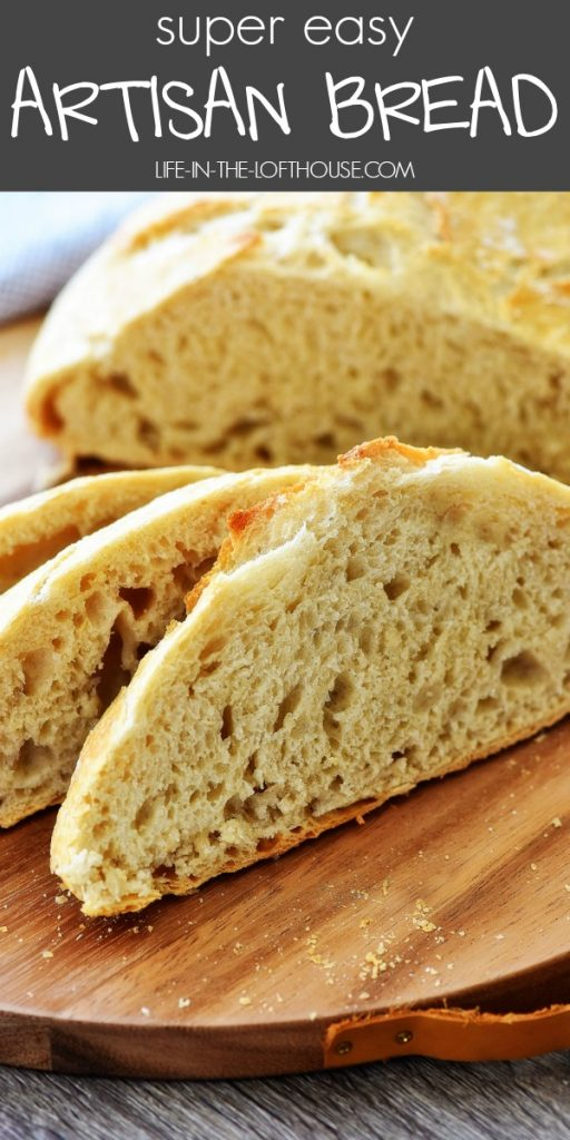 Artisan Bread has a crispy crust and a soft and delicious center. Life-in-the-Lofthouse.com