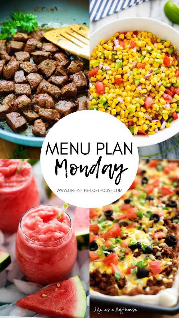 Menu Plan Monday is a menu of weekly dinner ideas. Each menu includes six dinners and one dessert. Life-in-the-Lofthouse.com