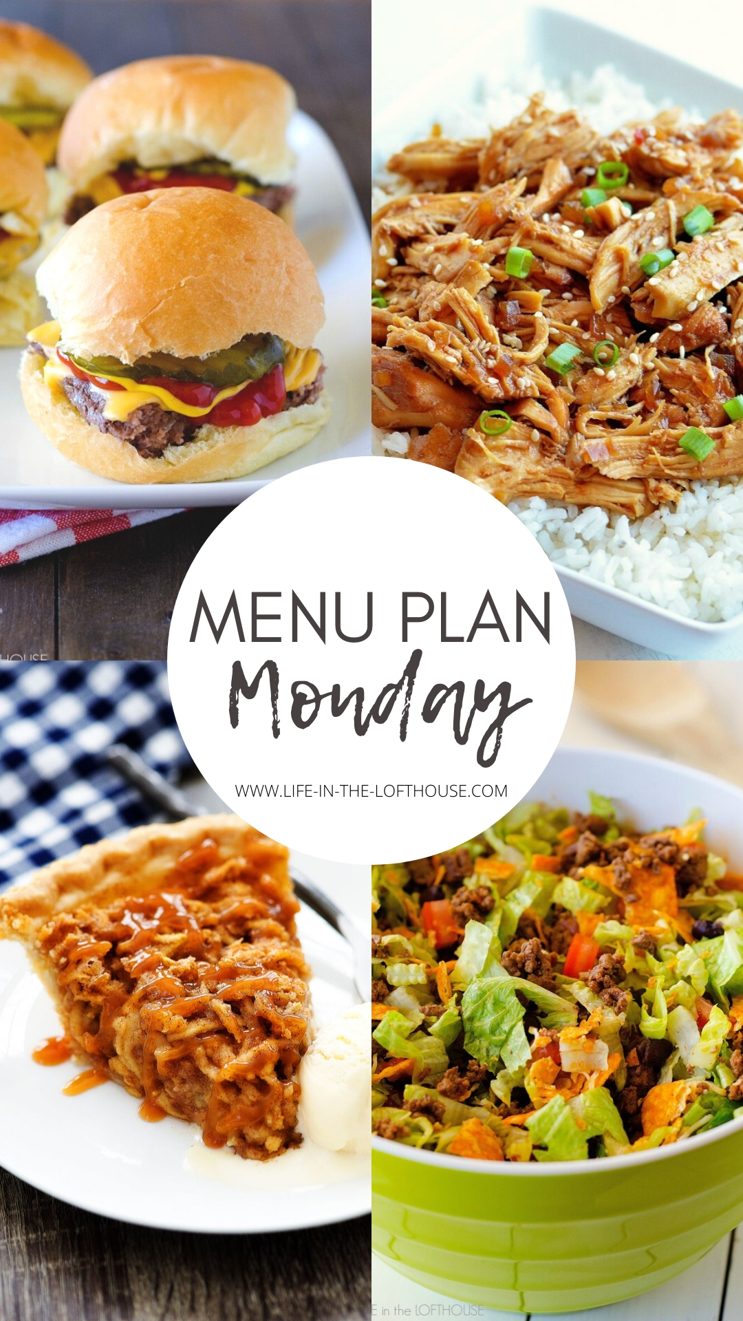 Menu Plan Monday is a list of dinner recipes. Each menu includes six dinner ideas and one dessert. Life-in-the-Lofthouse.com