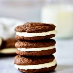 These Homemade Oreo Cookies are delicious, chocolatey cookies with a heavenly cream cheese filling. Life-in-the-Lofthouse.com