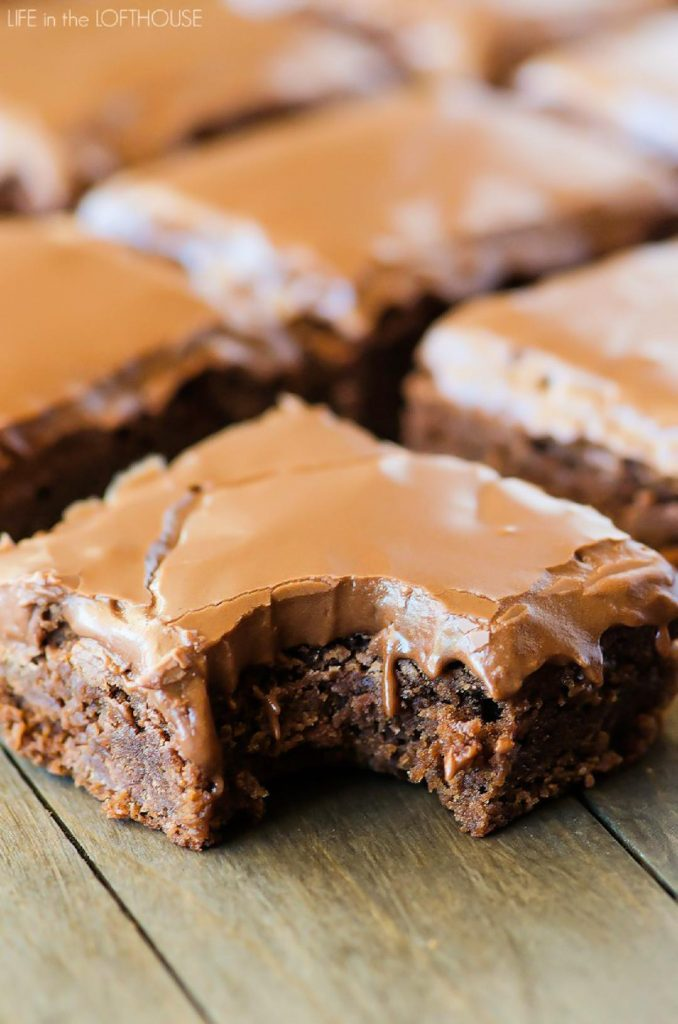 Lunch Lady Brownies are moist, full of chocolate flavor and absolutely delicious. Life-in-the-Lofthouse.com