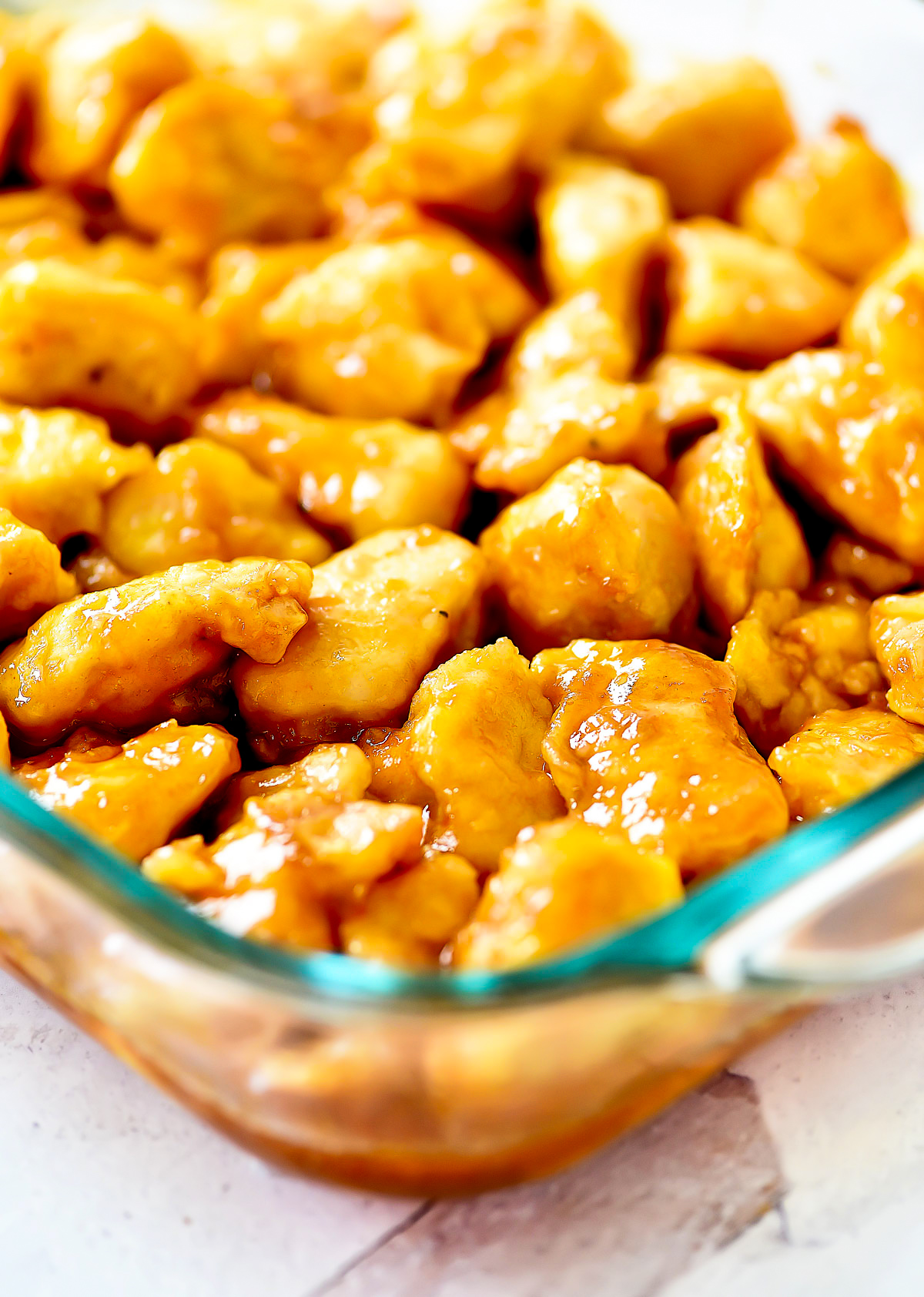 Sweet and Sour Chicken is bite-sized pieces of chicken covered in a delicious sweet and tangy sauce. Life-in-the-Lofthouse.com