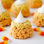 Candy Corn Rice Krispie Cupcakes