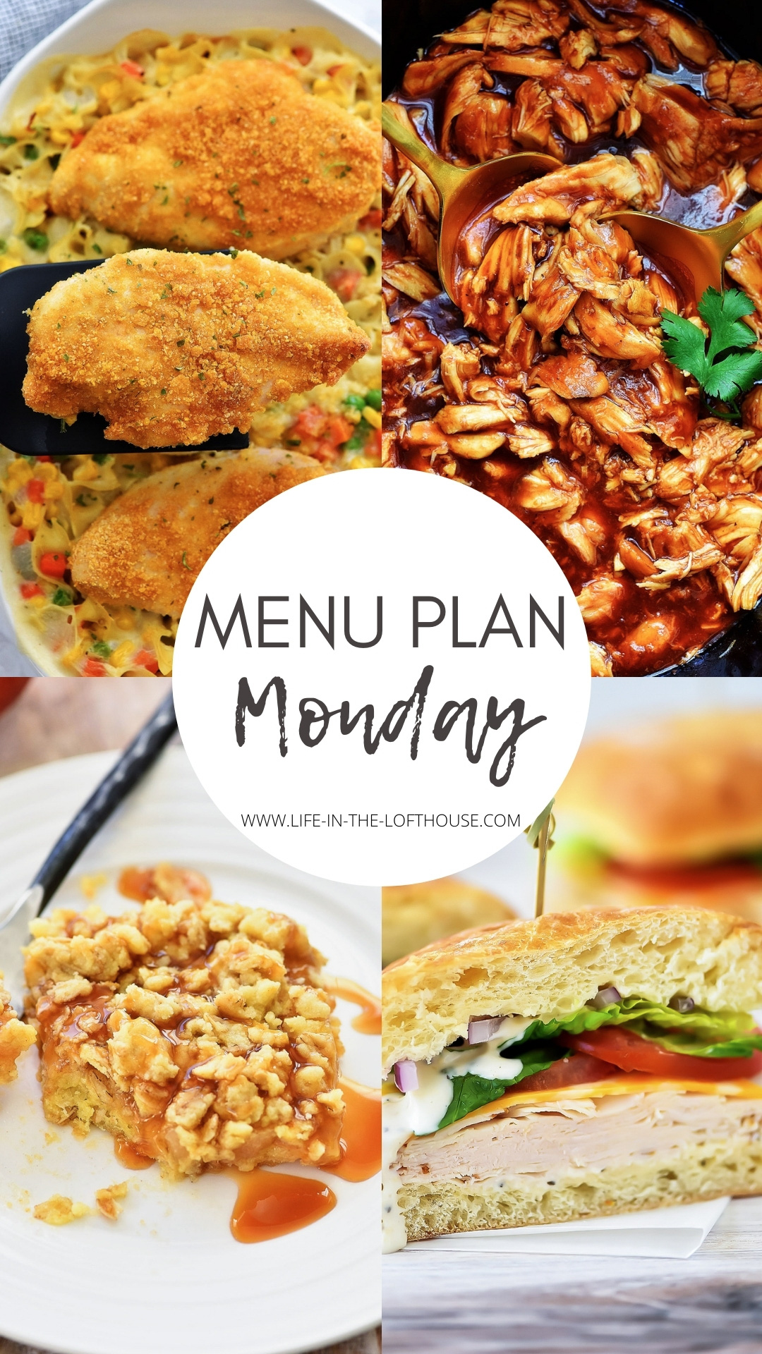 Menu Plan Monday is a family friendly weekly menu with six dinners and one dessert. Life-in-the-Lofthouse.com