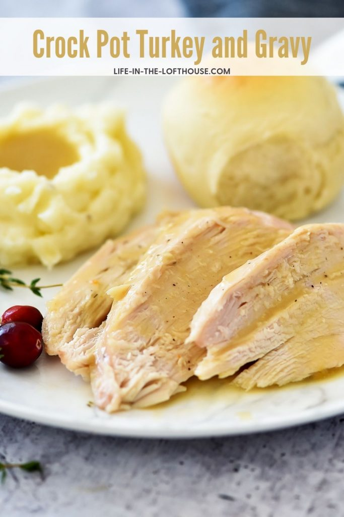 Tender turkey breast slow cooks in a flavorful vegetable medley that results in the most divine Crock Pot Turkey and Gravy dinner!
