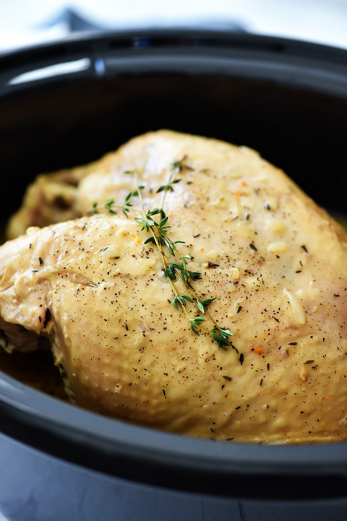 Tender turkey breast and delicious gravy cooked in a Crock Pot. Life-in-the-Lofthouse.com