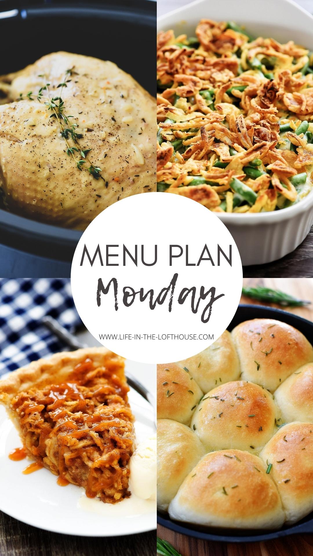 Thanksgiving Menu Plan Monday. Life-in-the-Lofthouse.com