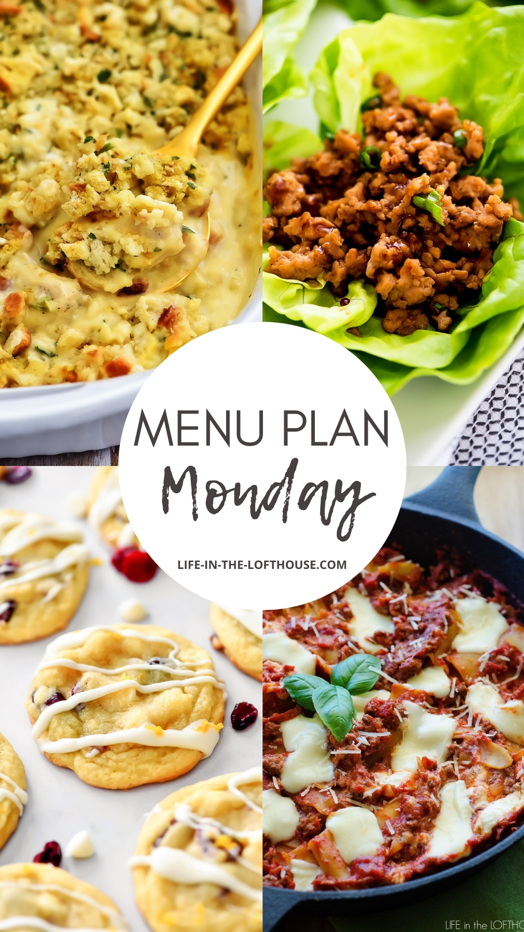 Menu Plan Monday is a list of six dinners and one dessert idea. Life-in-the-Lofthouse.com