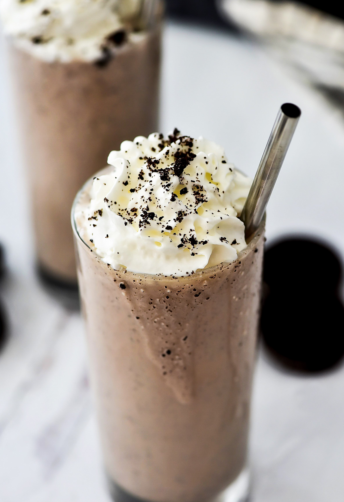 Oreo Chocolate Milkshakes that have fewer calories and fat.
