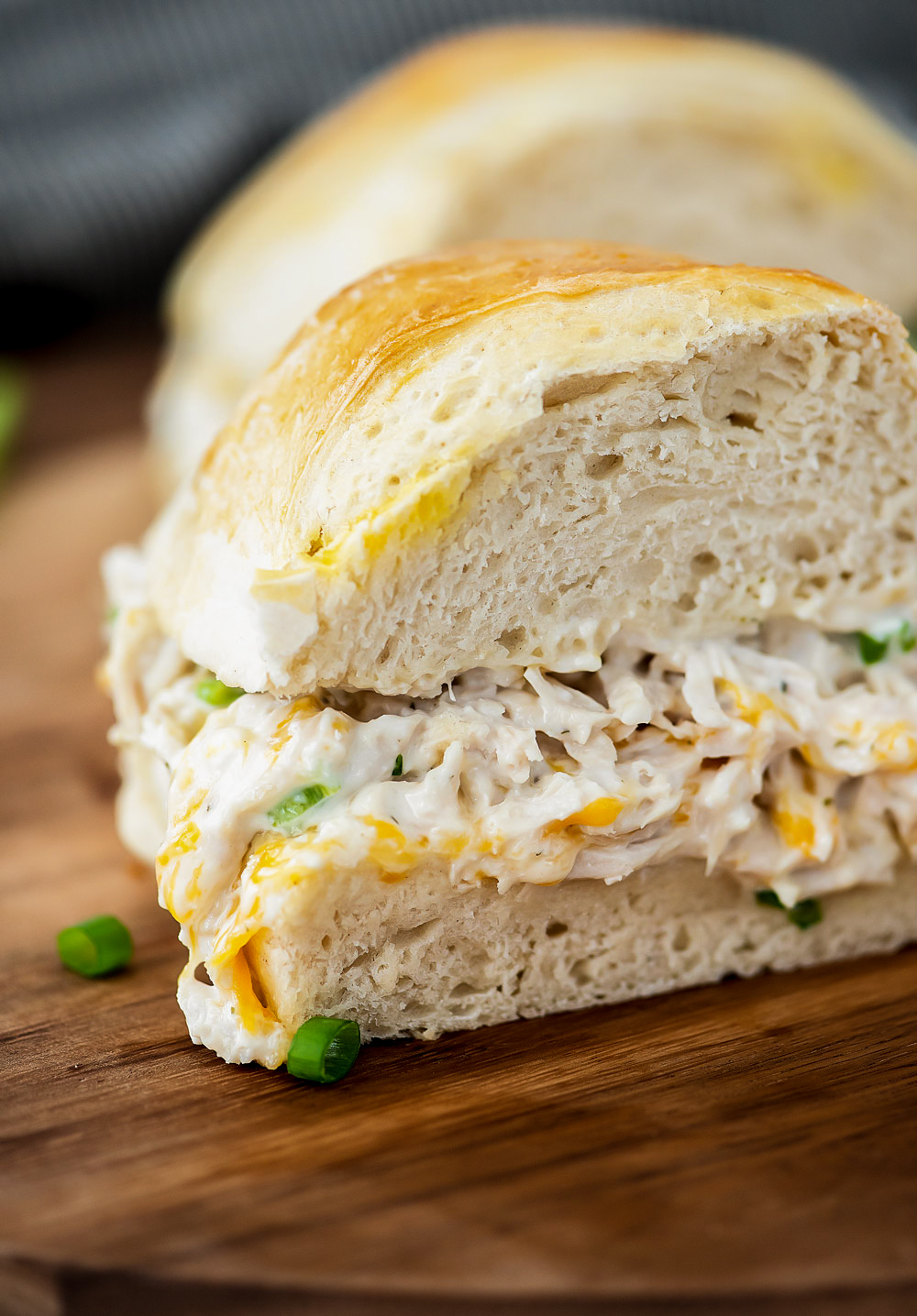 Chicken stuffed french bread is packed full of flavor with chicken, ranch dressing, loads of cheese and green onion. Life-in-the-Lofthouse.com