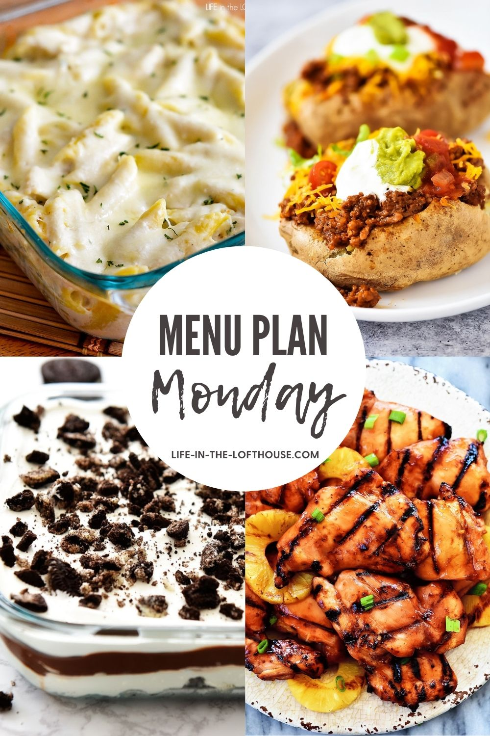 Menu Plan Monday is a list of dinner ideas and one dessert for the week.