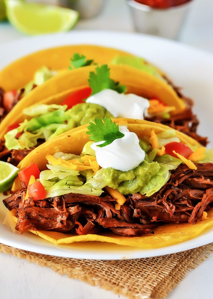 Crock Pot Shredded Beef Tacos