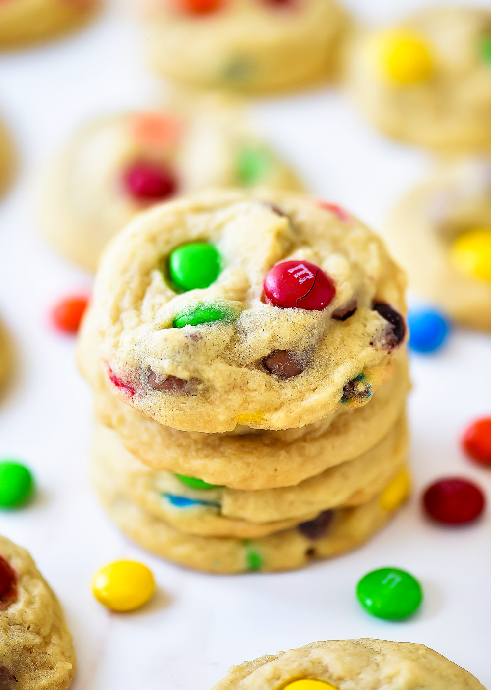 These cookies are so soft and chewy and filled with chocolate chips and rainbow M&M's. Life-in-the-Lofthouse.com