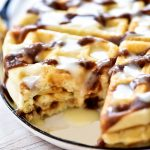 Decadent and delicious waffles with the flavors of cinnamon rolls. Life-in-the-Lofthouse.com