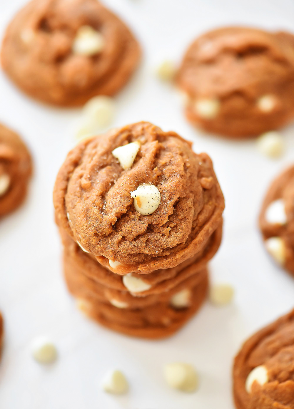Pumpkin Snickerdoodle cookies with white chocolate chips. Life-in-the-Lofthouse.com